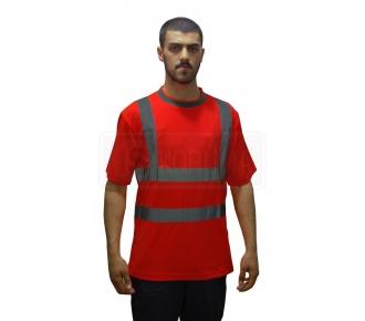 Reflektif T.Shirt Bisiklet Yaka